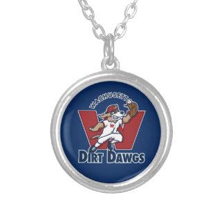 Logo collégial d'équipe de baseball de Dawgs de Pendentif Rond