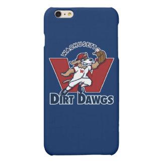 Logo collégial d'équipe de baseball de Dawgs de