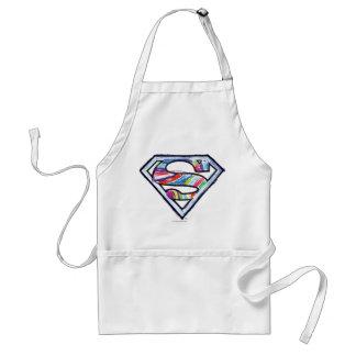 Logo coloré de croquis de Supergirl Tablier