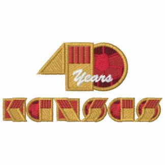 Logo d'anniversaire de 40 ans - coffre laissé et sweat-shirt à capuche brodé