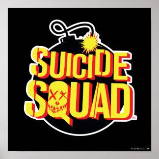 Logo de bombe du peloton | de suicide poster