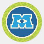 Logo de cercle de M Autocollants Ronds