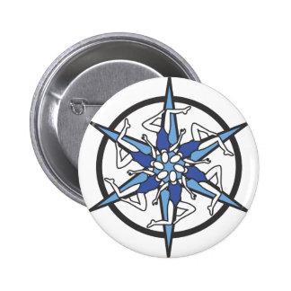 Logo de cercle de natation synchronisée dans le bl badge avec épingle
