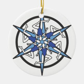 Logo de cercle de natation synchronisée dans le ornement rond en céramique