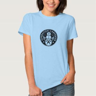 Logo de charpentier d'opération - femelle adulte t shirt