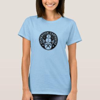 Logo de charpentier d'opération - femelle adulte t-shirt