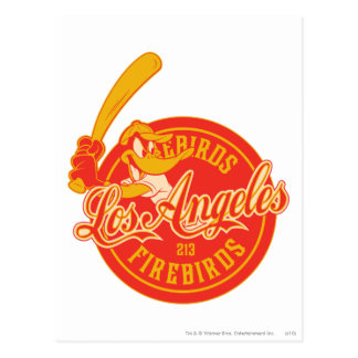 Logo de DAFFY DUCK™ Los Angeles Firebirds Cartes Postales