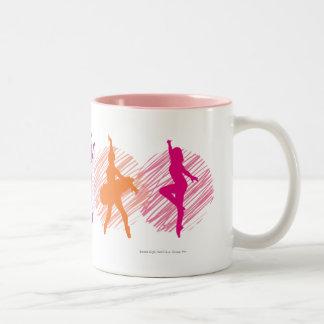 Logo de danseurs de couleur d'académie de danse mug à café