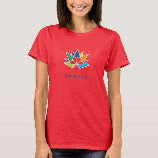 Logo de fonctionnaire du Canada 150 - multicolore T-shirt