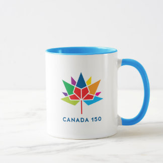 Logo de fonctionnaire du Canada 150 - multicolore Tasse