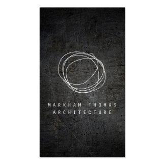 Logo de griffonnage de concepteur sur le métal carte de visite standard