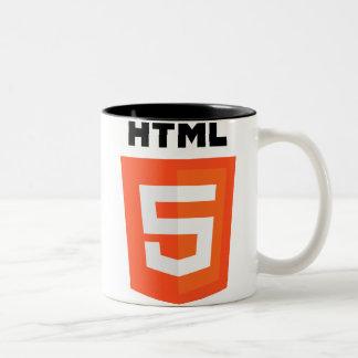 Logo de HTML 5 Mug Bicolore
