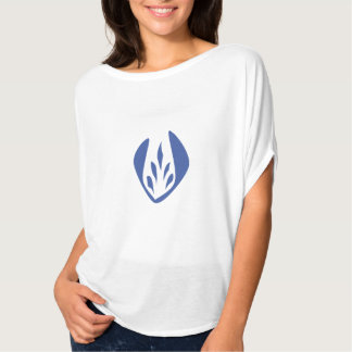 Logo de jardinier de tulipe bleue t-shirt