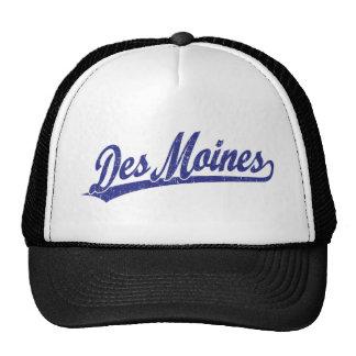 Logo de manuscrit de Des Moines dans le bleu Casquettes De Camionneur