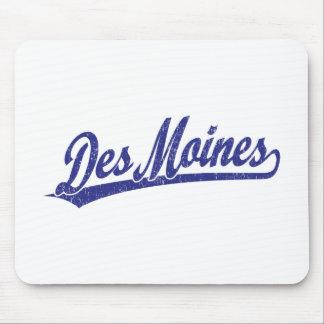 Logo de manuscrit de Des Moines dans le bleu Tapis De Souris