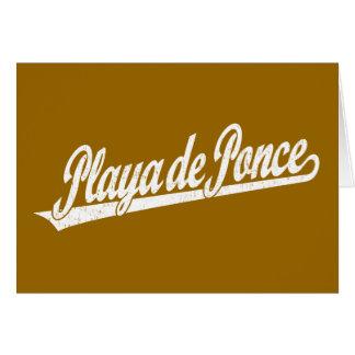 Logo de manuscrit de Playa de Ponce dans le blanc  Carte De Vœux