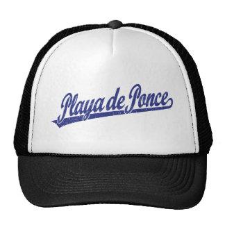 Logo de manuscrit de Playa de Ponce dans le bleu a Casquettes De Camionneur