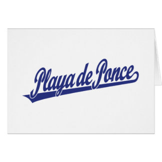 Logo de manuscrit de Playa de Ponce dans le bleu Carte De Vœux
