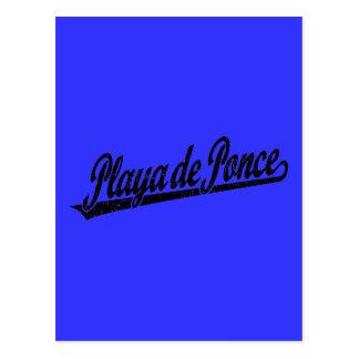 Logo de manuscrit de Playa de Ponce dans le noir a Cartes Postales