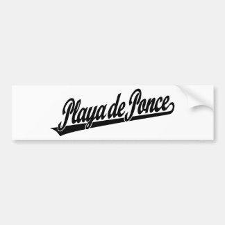 Logo de manuscrit de Playa de Ponce dans le noir Autocollant De Voiture