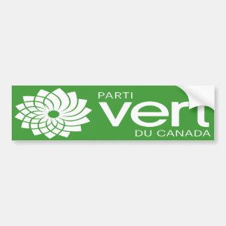 Logo de Parti Vert du Canada Autocollant De Voiture