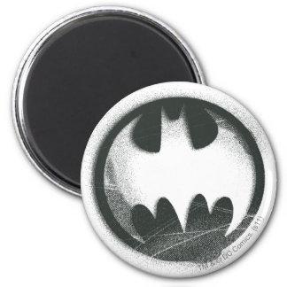 Logo de symbole de jet du symbole | de Batman Magnet Rond 8 Cm
