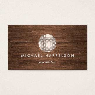 Logo décoratif moderne sur la fibre de bois chaude cartes de visite