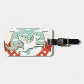 Logo design with Pegasus flying Luggage Tag