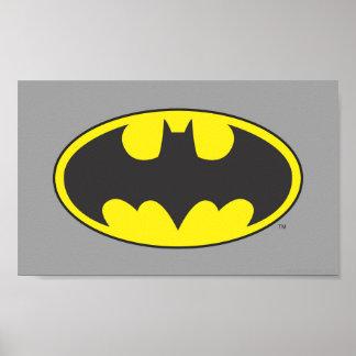 Logo d'ovale de batte du symbole | de Batman Poster