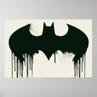 Logo du symbole | Spraypaint de Batman Poster