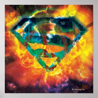 Logo embouti par paix du S-Bouclier | de Superman Poster