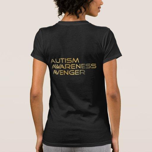 Logo et texte de vengeur de sensibilisation sur l' t-shirt