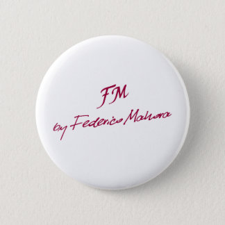 logo [FM BY FEDERICO MAHORA] 2 Inch Round Button