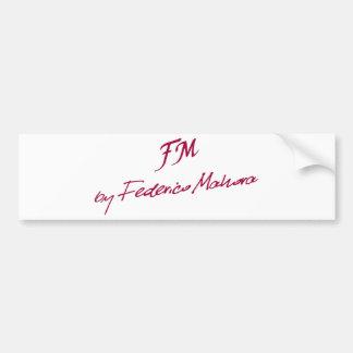 logo [FM BY FEDERICO MAHORA] Bumper Sticker