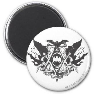 Logo foncé de battes du chevalier   de Batman Magnet Rond 8 Cm