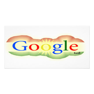 Logo Google For All Kurd Photo Card Template