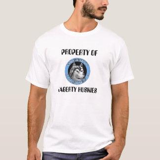 logo_huskies2, PROPERTY OF , HAGERTY HUSKIES  T-Shirt