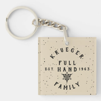 Logo in old style keychain