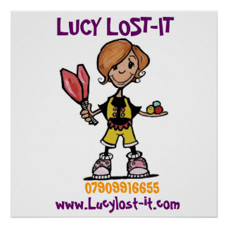 logo in progress, LUCY LOST-IT, www.Lucylost-it... Poster