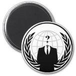 Logo international anonyme aimant pour réfrigérateur