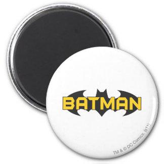 Logo jaune du symbole   de Batman et noir nommé Magnet Rond 8 Cm