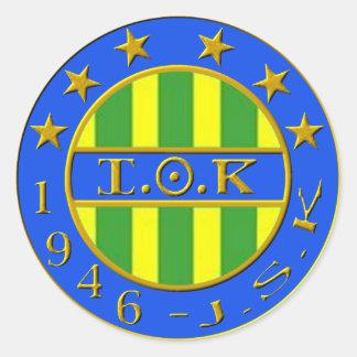 logo jsk classic round sticker