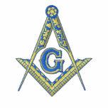Logo maçonnique avec le nom personnalisé polo brodé