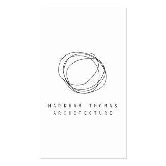 Logo minimal et moderne de griffonnage de concepte carte de visite standard