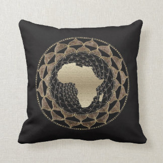 Logo Motif of the Motherland, Africa Throw Pillow