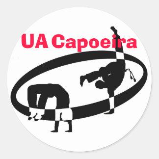 logo no text, UA, Capoeira Classic Round Sticker