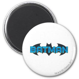 Logo nommé bleu de Batman   Magnet Rond 8 Cm