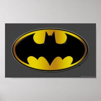Logo ovale de gradient du symbole | de Batman Poster