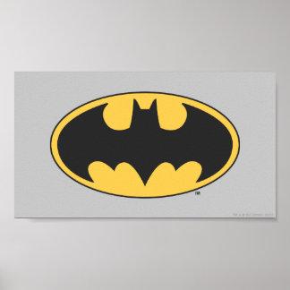 Logo ovale du symbole   de Batman Poster