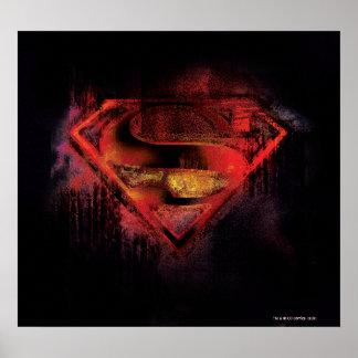 Logo peint par | de S-Bouclier de Superman Poster